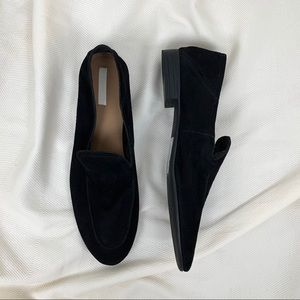 H&M Black Premium Suede Loafers Shoes